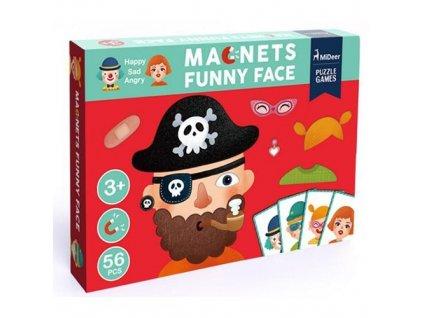 MiDeer Magnetická tabulka - Vtipné obličeje