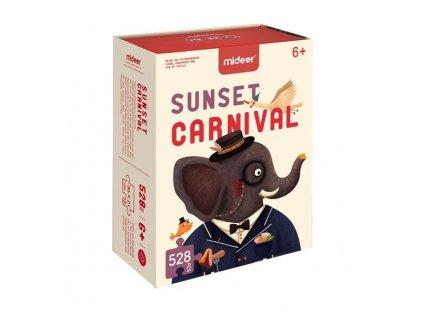 Karneval při západu slunce puzzle 528 ks