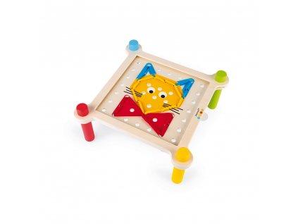 Janod mozaika a vyšívání s předlohami série Montessori 3+