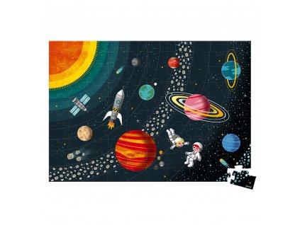 Janod Vzdělávací puzzle Vesmír a sluneční soustava 100 ks