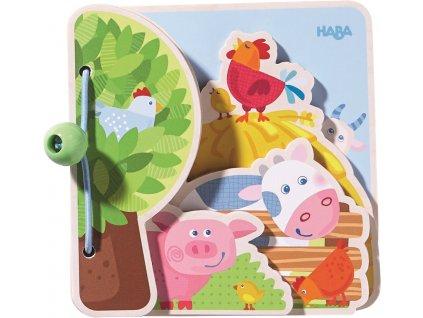 Haba Dřevěná kniha pro nejmenší Farma