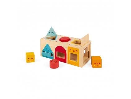 Janod Dřevěná vkládačka Montessori Tvary 1+