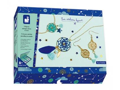 Janod Atelier Sada na výrobu šperků se šperkovničkou Šperky Lapač snů 8+