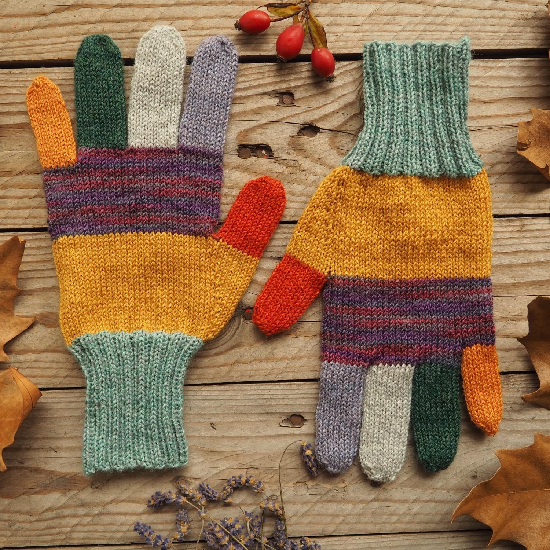 Prstové rukavice z ponožkové příze