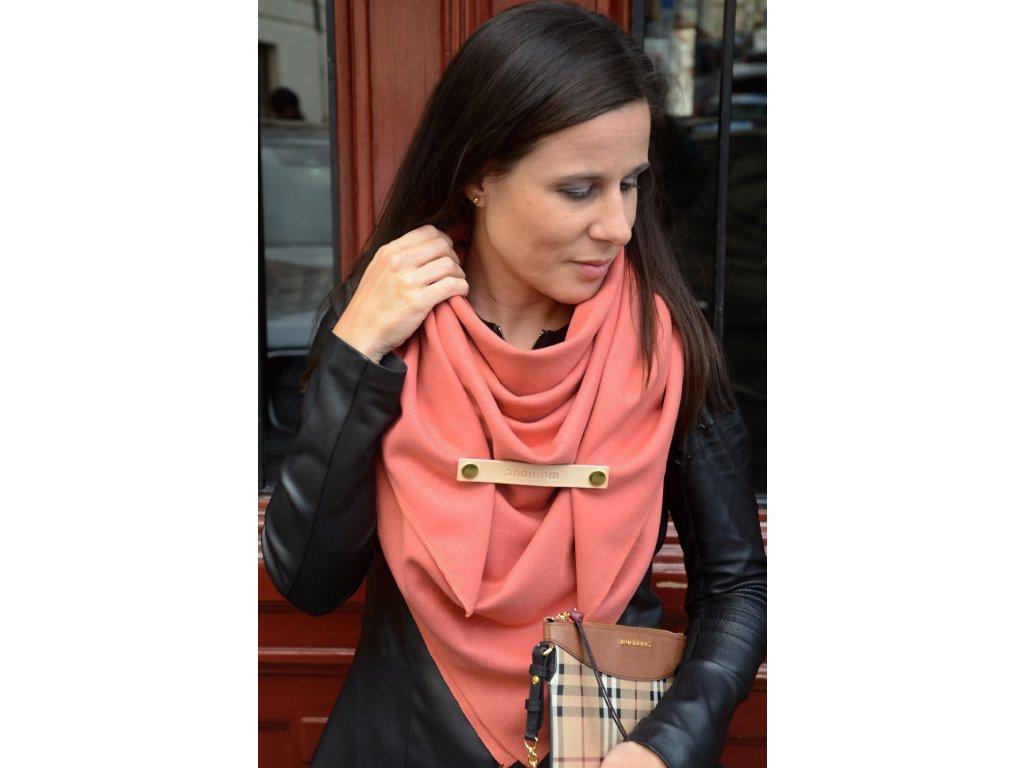 Meruňkový vlněný šátek