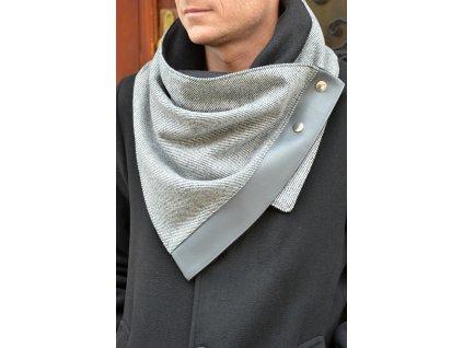 Pánská šála podšitá fleecem