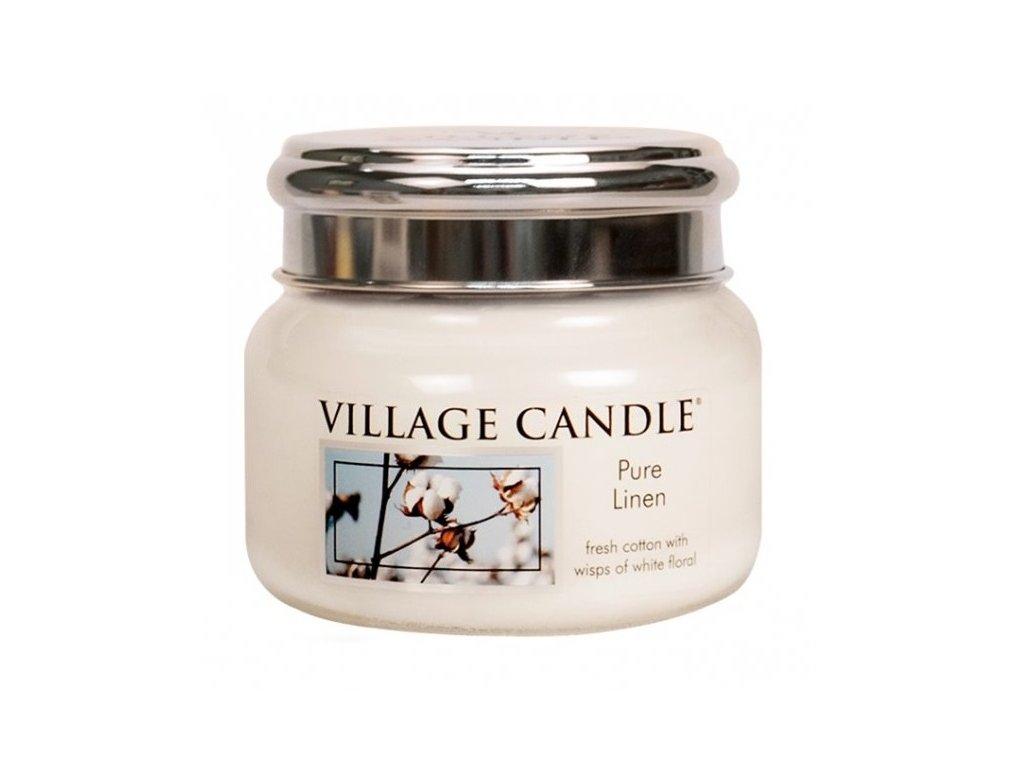 village candle pure linen 262 g