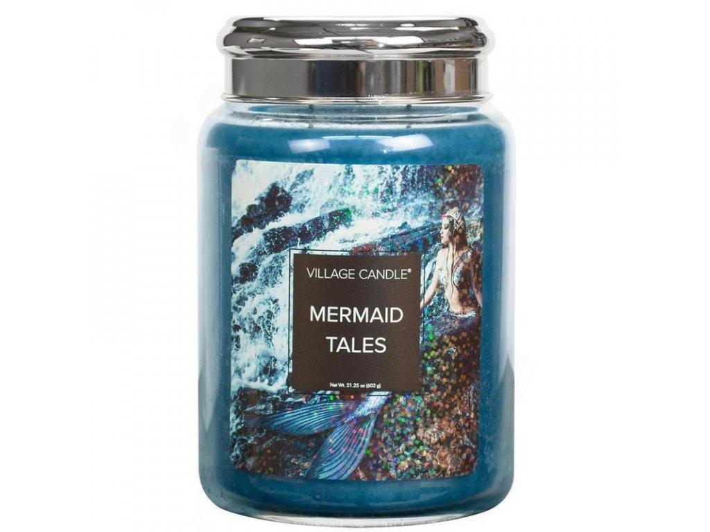 velka vonna svicka ve skle village candle mermaid tales pribehy morskych pannen 800x800