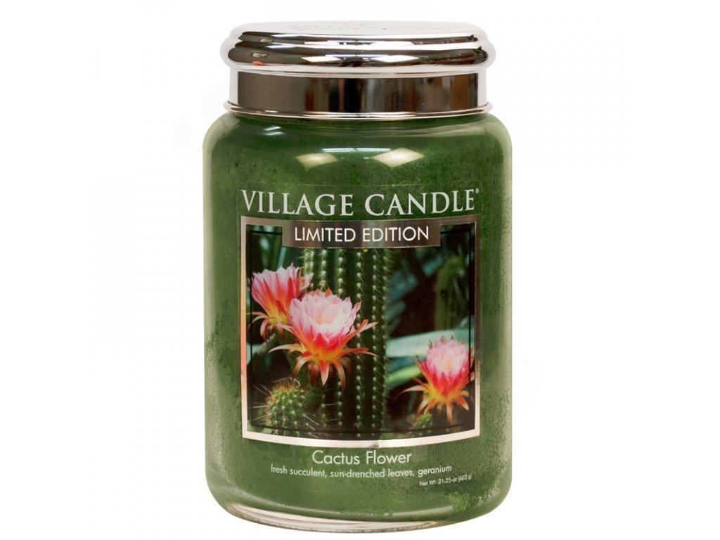 velka vonna svicka ve skle village candle cactus flower 800x800