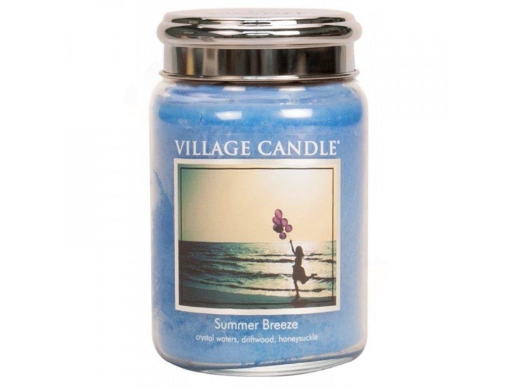 velka vonna svicka ve skle village candle summer breeze letni vanek plechove vicko 800x800