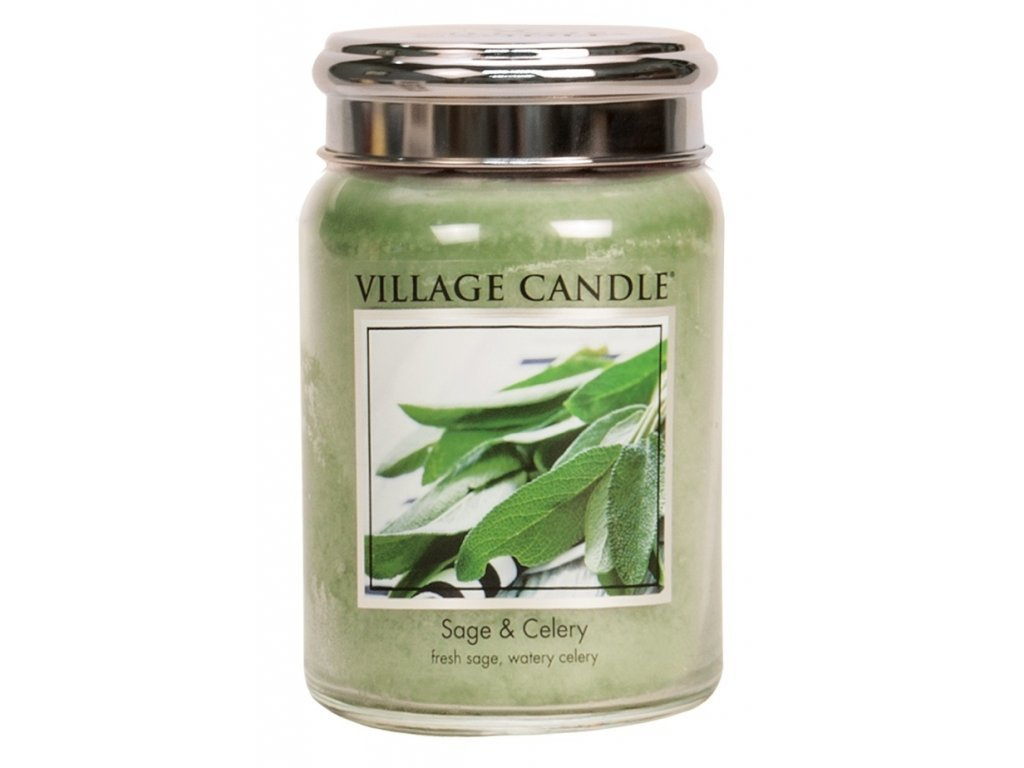 42017 1 village candle vonna svicka ve skle svezi salvej sage celery 26oz