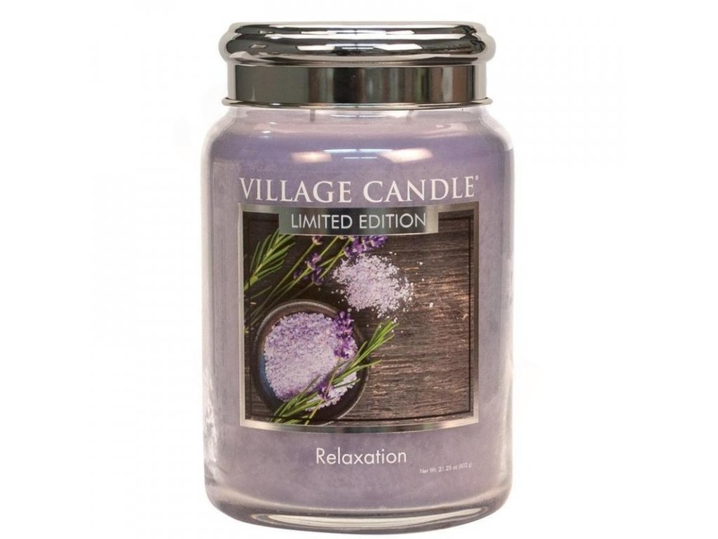 velka vonna svicka ve skle village candle relaxation 800x800