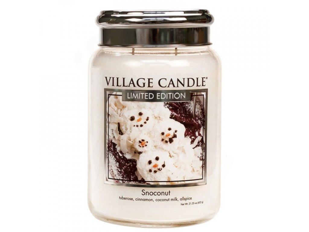 velka vonna svicka ve skle village candle snoconut kokosovy snih 800x800