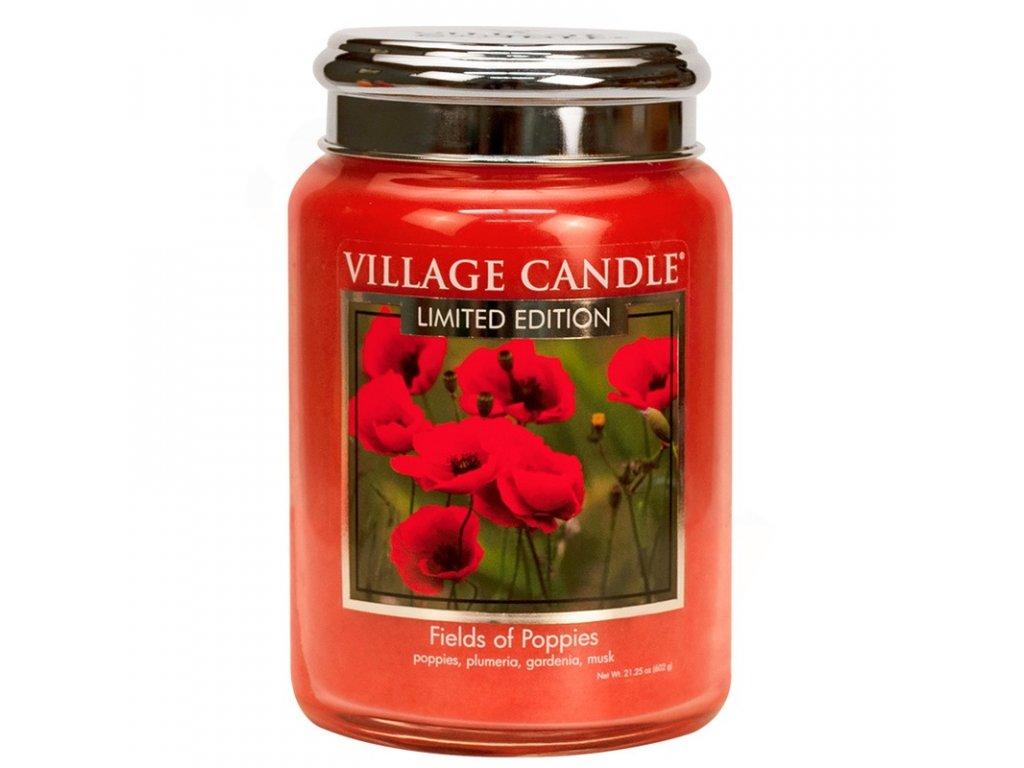 velka vonna svicka ve skle village candle fields of poppies 800x800