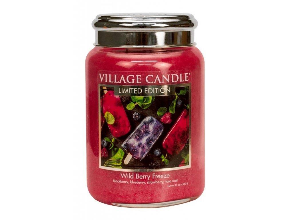 Village Candle vonná svíčka ve skle Wild Berry freeze Lesní ovoce 602g