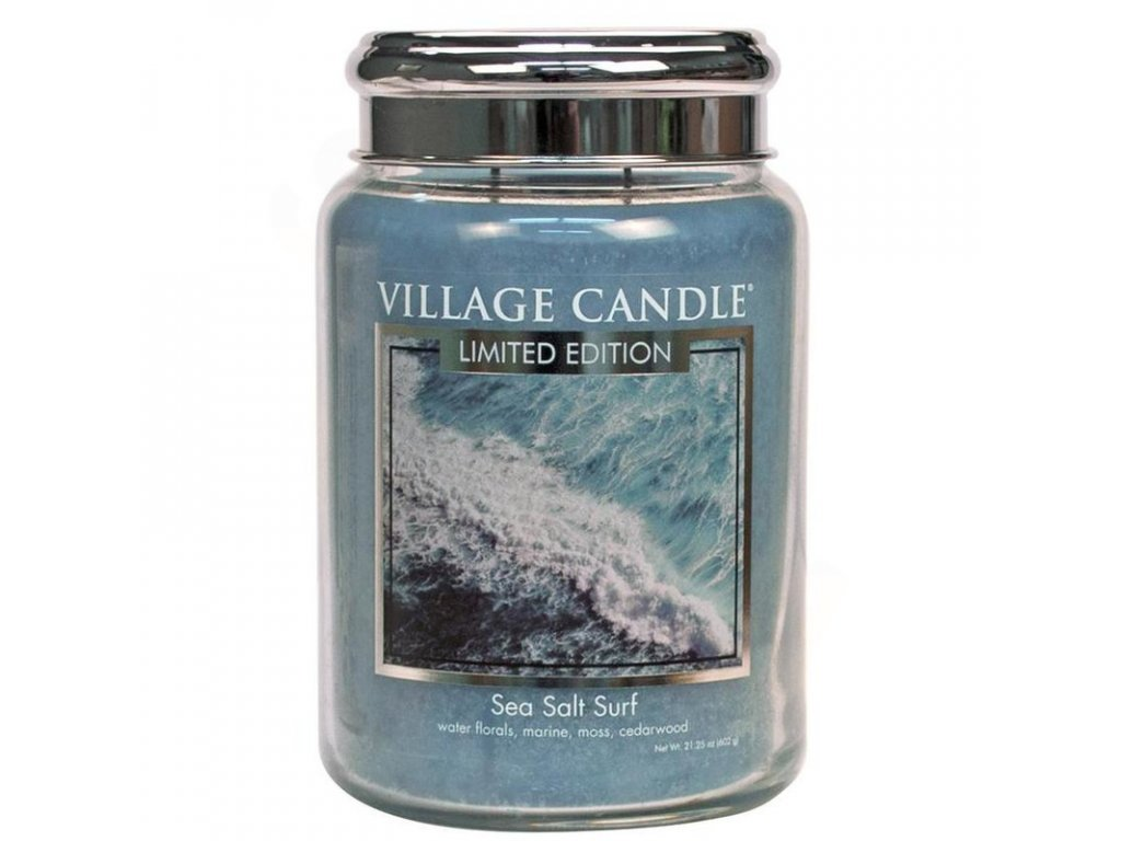 velka vonna svicka ve skle village candle sea salt surf morsky priboj 800x800
