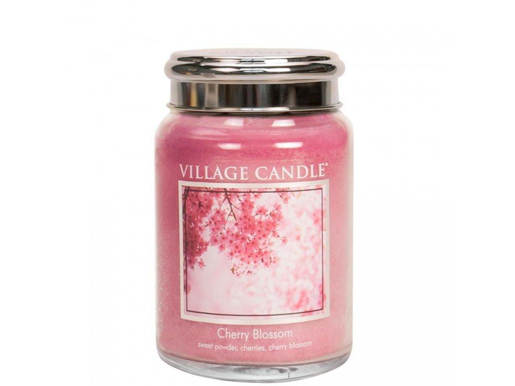 Village Candle Cherry Blossom 602g svíčka s vůní třešnového květu