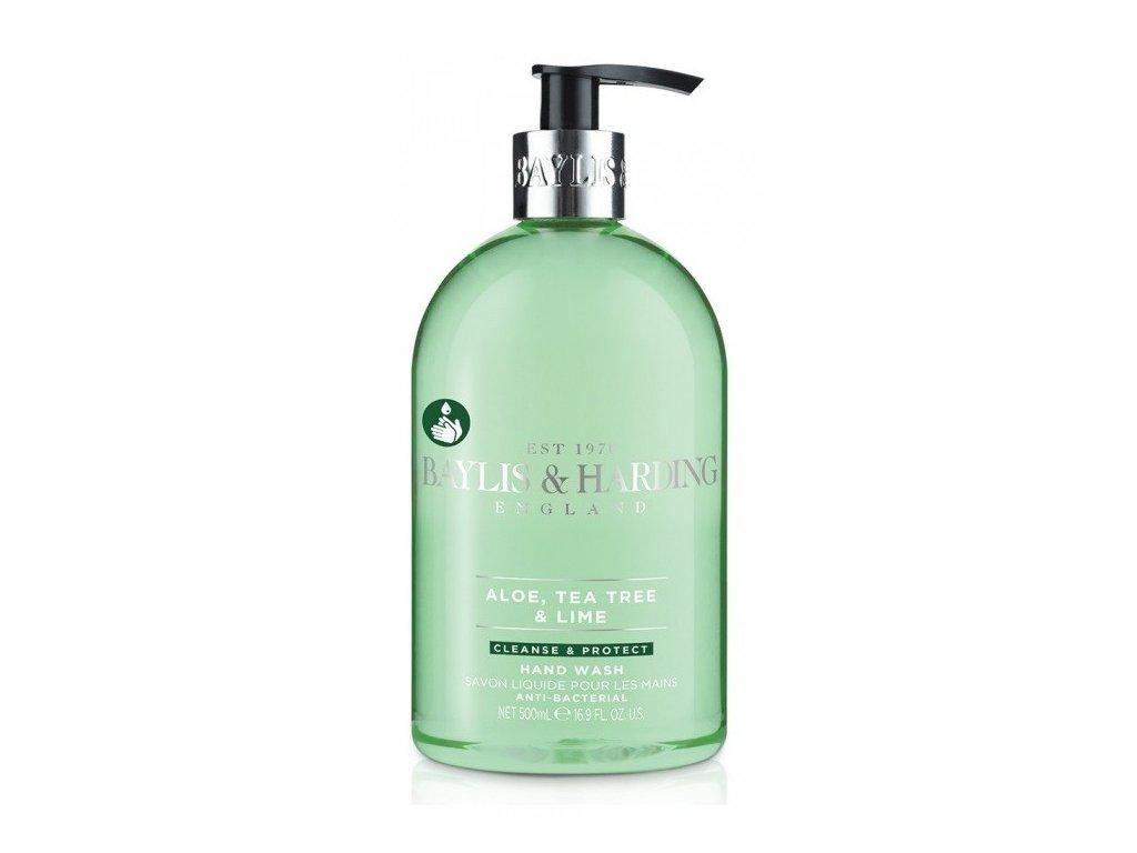 Baylis & Harding hand wash Aloe, Tea Tree & Lime antibakteriální tekuté mýdlo 500ml