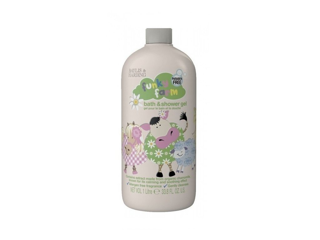 Baylis & Harding Funky Farm dětský koupelový a sprchový gel 2v1 1000ml