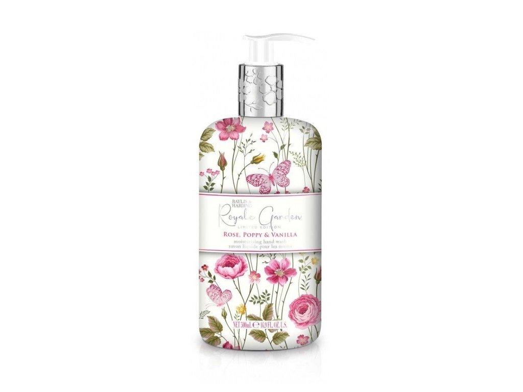 Baylis & Harding Royale Garden Rose, Poppy & Vanilla tekuté mýdlo 500ml