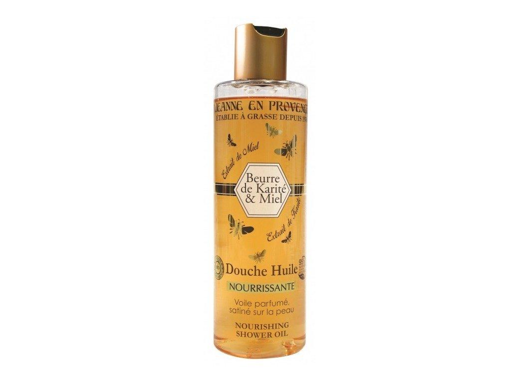 Jeanne en Provence Bambucké máslo a med výživný sprchový olej 250ml