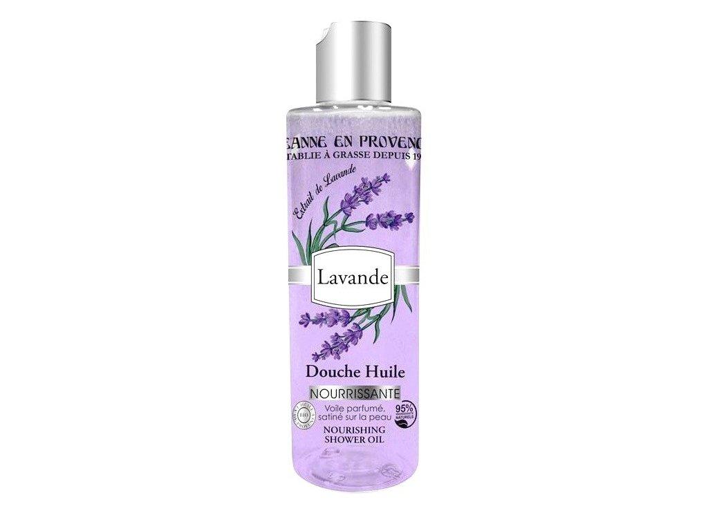 Jeanne en Provence Levandule výživný sprchový olej 250ml
