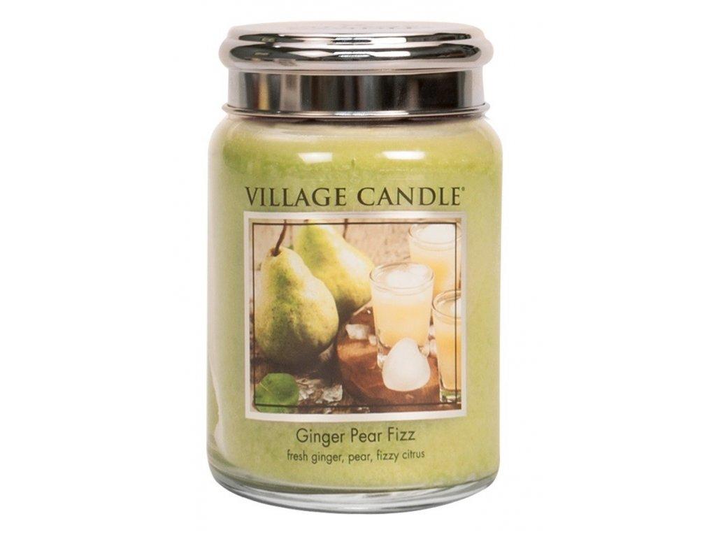 Village Candle vonná svíčka ve skle Hruškový fizz se zázvorem Ginger pear fizz 602g
