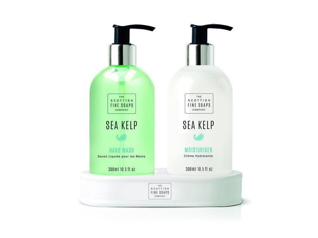 The Scottish Fine Soaps tekuté mýdlo a mléko na ruce Mořská řasa 2x 300ml