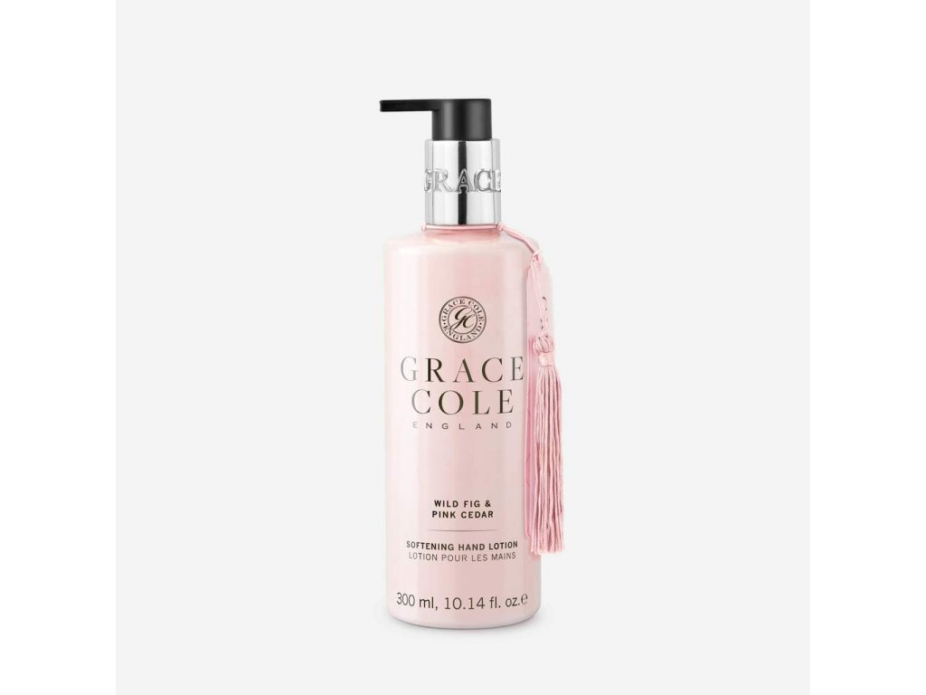 luxury hand cream lotion in wild fig and pink cedar made in england by grace cole 1024x1024