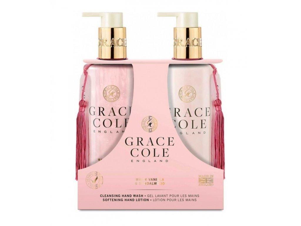 Grace Cole Hand lotion + Mýdlo na ruce Warm Vanilla & Sandalwood 2x300ml