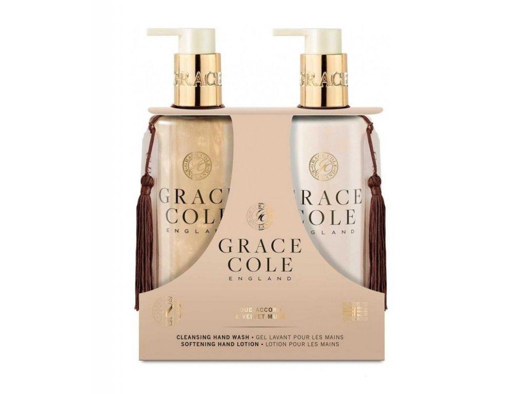 Grace Cole Hand lotion + Mýdlo na ruce Oud accord & Velvet musk 2x300ml
