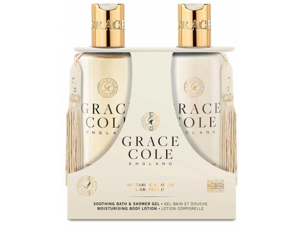 44594 2 grace cole sprchovy gel hydratacni telove mleko nectarine blossom grapefruit 2x300ml