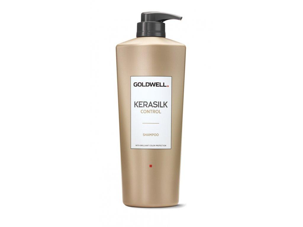 Goldwell Kerasilk Control shampoo 1000ml šampon na nepoddajné vlasy