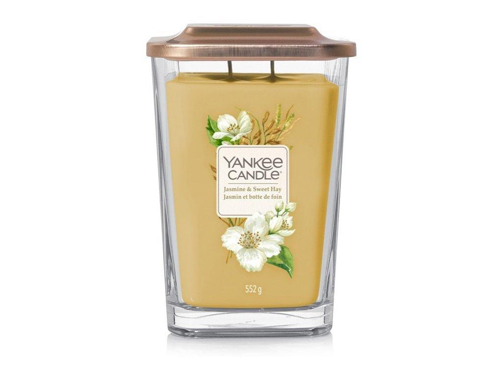 Yankee Candle Jasmine & Sweet Hay 552g svíčka se svěží a čistou vůní