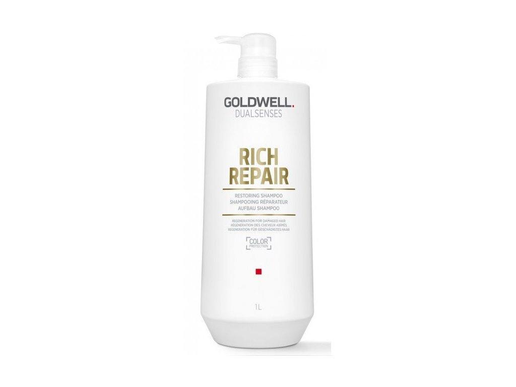 Goldwell Dualsenses Rich Repair restoring shampoo 1000ml kondicioner pro suché a poškozené vlasy