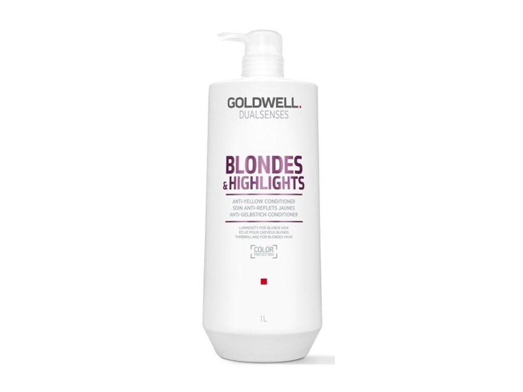 Goldwell Dualsenses Blondes & Highlights conditioner 1000ml Kondicioner pro zářivé blond a melírované vlasy