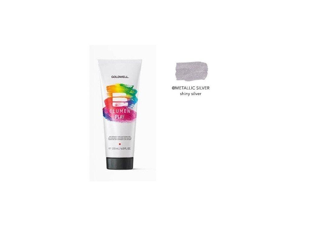 Elumen Play METALLIC SILVER 120ml semi-permanentní barva