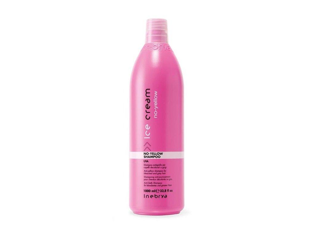 Inebrya No-yellow shampoo 1000ml šampon na bílé, blond vlasy