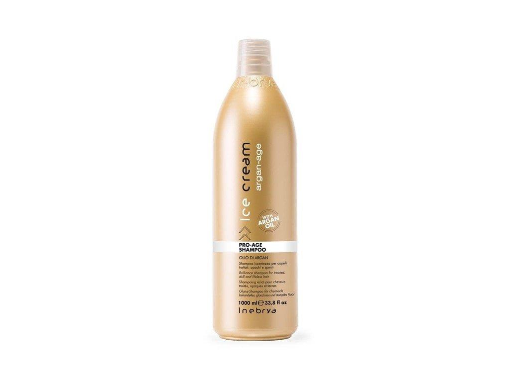 Inebrya Argan-Age Pro-Age shampoo 1000ml šampon pro unavené vlasy