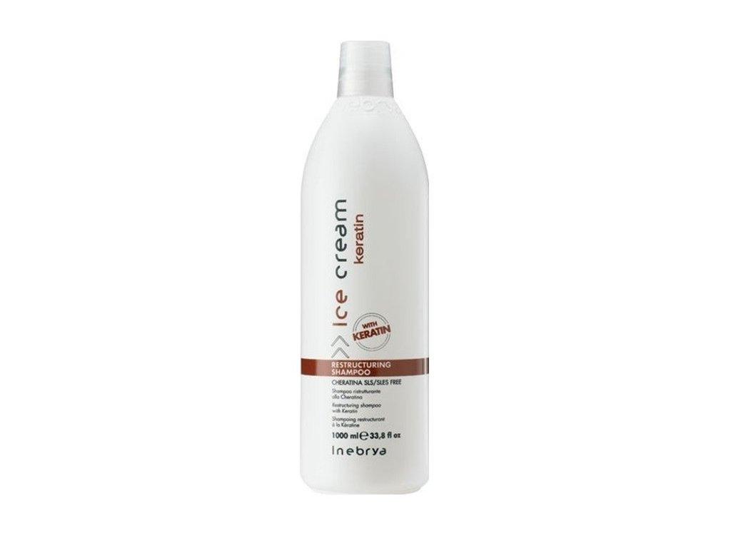 Inebrya Keratin restructuring shampoo 1000ml šampon s keratinem
