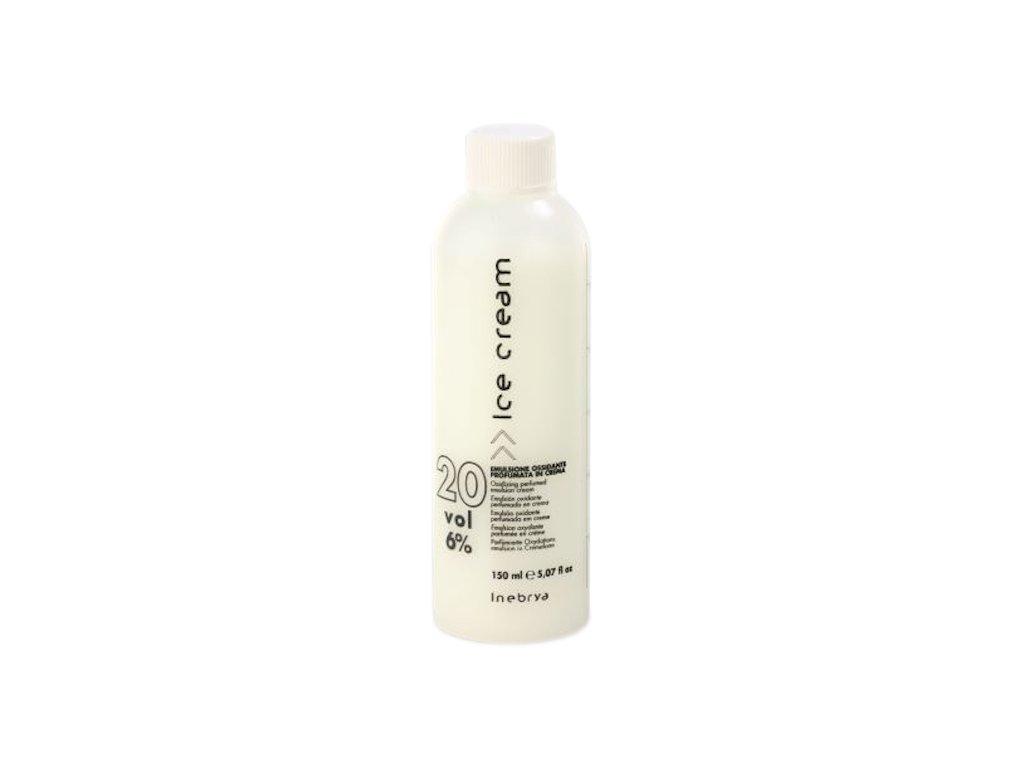 Inebrya Ice cream Oxydante emulsion 20 vol 6% 150ml oxidační emulze