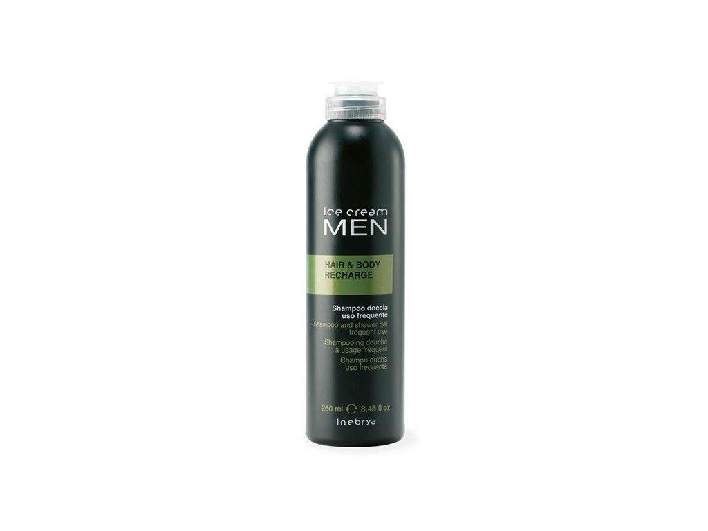Inebrya MEN Hair & Body Recharge šampon a sprchový gel v jednom 250ml