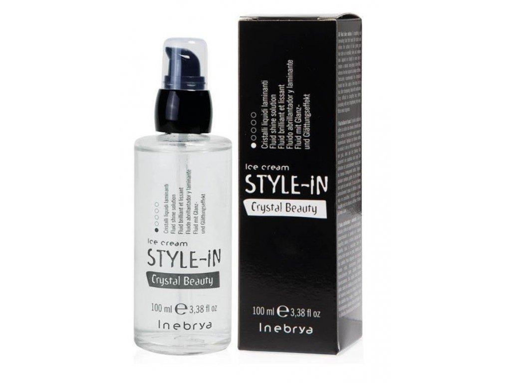 Inebrya Style-in Crystal beauty 100ml uhlazující fluid na vlasy
