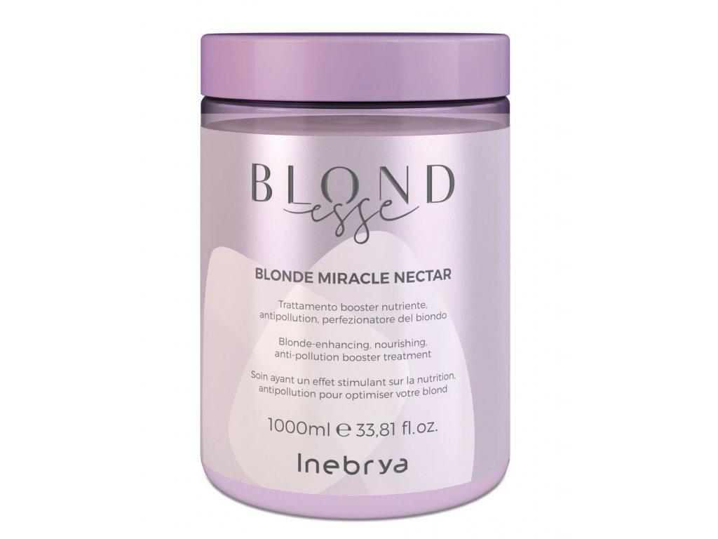 Inebrya BLONDesse Blonde nectar 1000ml treatment pro blond, šedivé a melírované vlasy