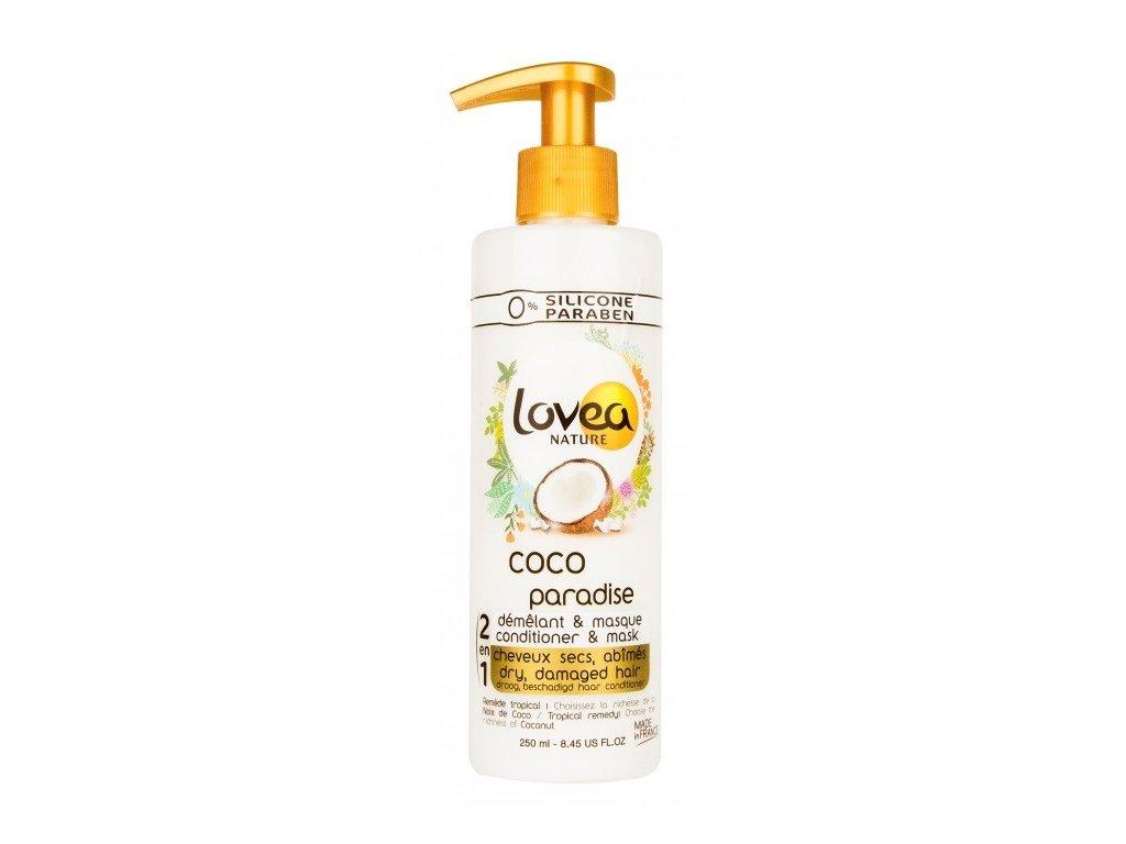Lovea nature Coco 2in1 250ml maska a kondicioner na suché vlasy s kokosovým olejem