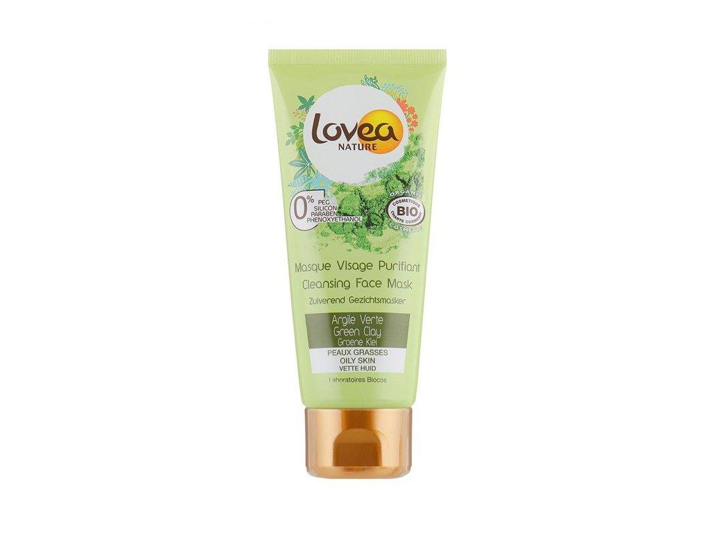 Lovea Cleansing face mask Green clay 75ml čistící pleťová maska se zeleným jílem