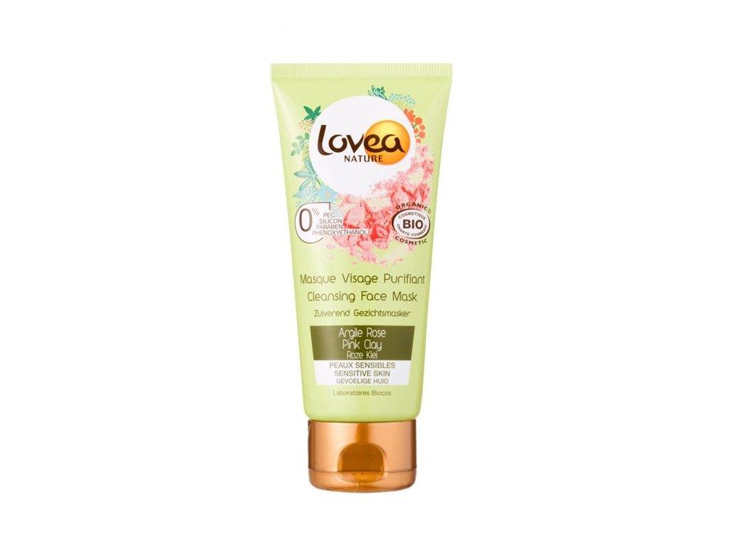 Lovea Cleansing face mask Pink clay 75ml čistící pleťová maska s růžovým jílem