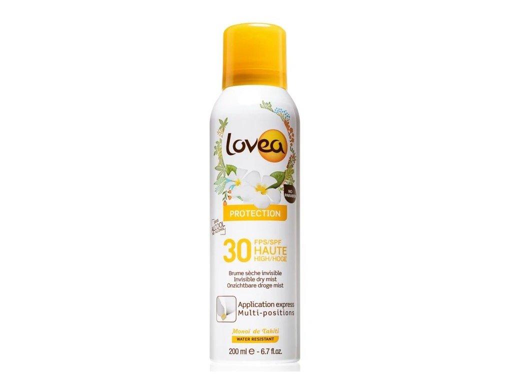 Lovea SUN Protection 30 Spray Invisible dry mist 200ml hydratační mlha na opalování voděodolný