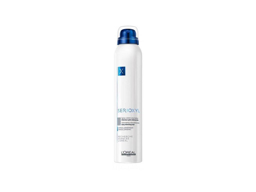 L'Oréal Professionnel Serioxyl Volumizing Coloured Spray 200ml barevný sprej pro objem vlasů ŠEDÝ