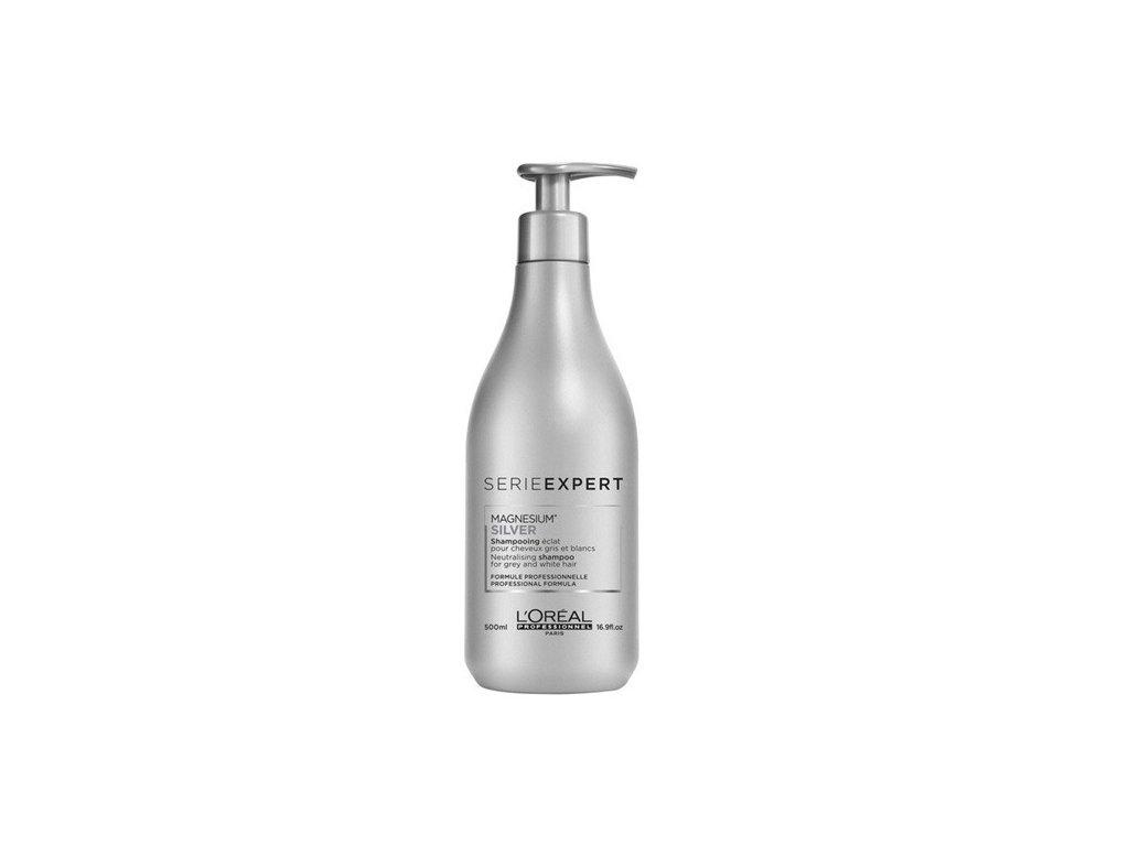 ĽOréal Professionnel Expert Silver Magnesium shampoo 500ml šampon na bílé a melírované vlasy